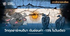 """""""วิกฤตอาร์เจนตินา"""" เงินอ่อนค่า -15% ในวันเดียว"""