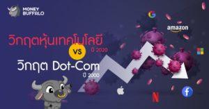 """วิกฤต """"หุ้นเทคโนโลยี"""" ปี 2020 vs วิกฤต Dot-Com ปี 2000"""