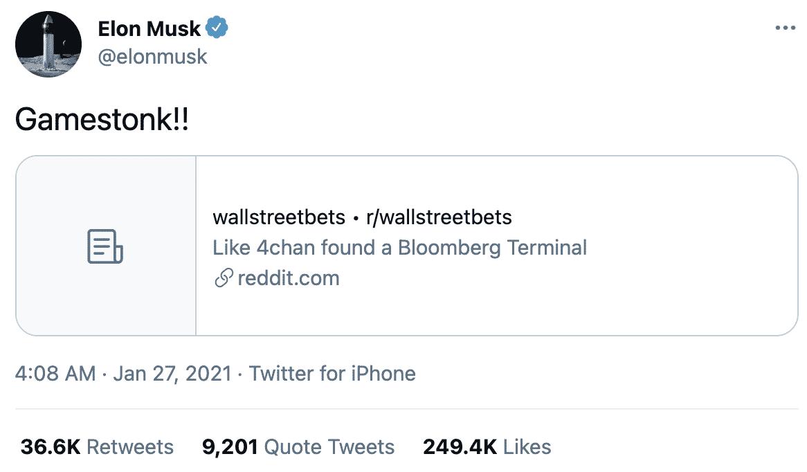 Elon Musk GameStonk