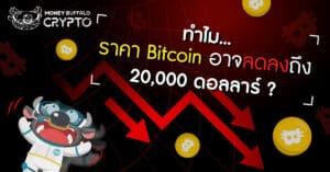 """ทำไม """"ราคา Bitcoin"""" อาจลดลงถึง 20,000 ดอลลาร์ ?"""