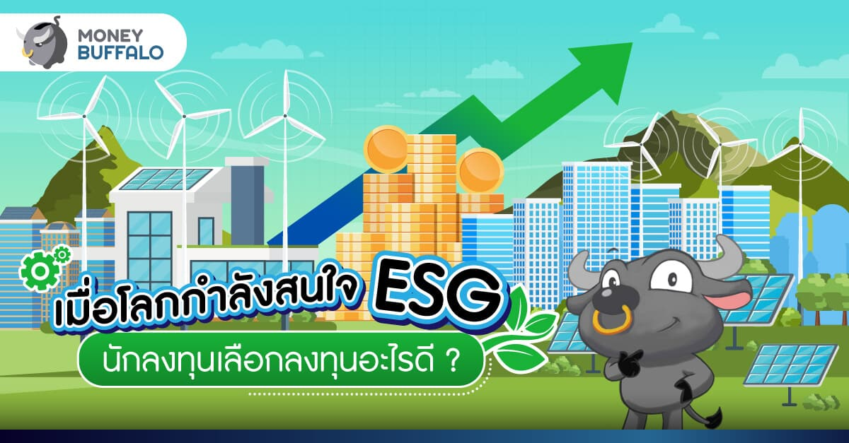 """เมื่อโลกกำลังสนใจ """"ESG"""" นักลงทุนเลือกลงทุนอะไรดี ?"""